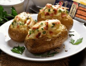 ziemniaki z kremem chrzanowym