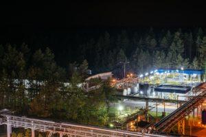 Fabryka CIECH w nocnej scenerii